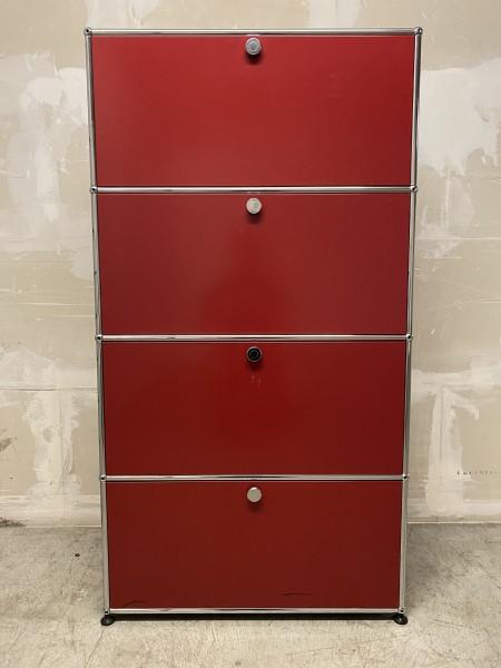 USM Regal auf Füsschen Rubinrot (B/H/T) 75/140/35cm