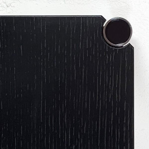 USM Haller Tische, Rechteckig, Eiche, schwarz, furniert