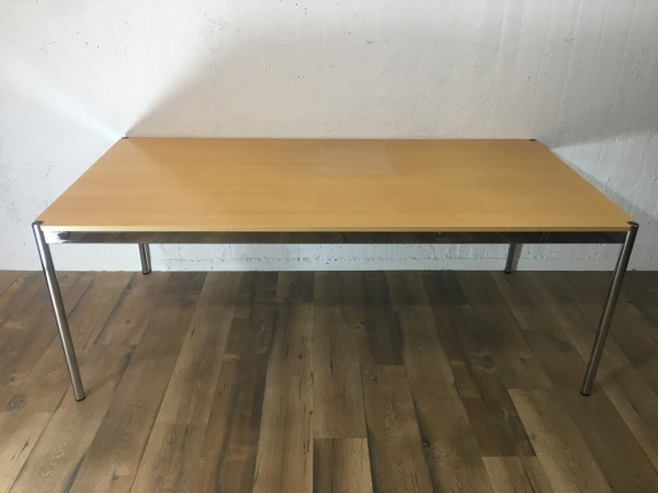 USM Haller Tisch Buche Natur, furniert 200/74/100cm (B/H/T)