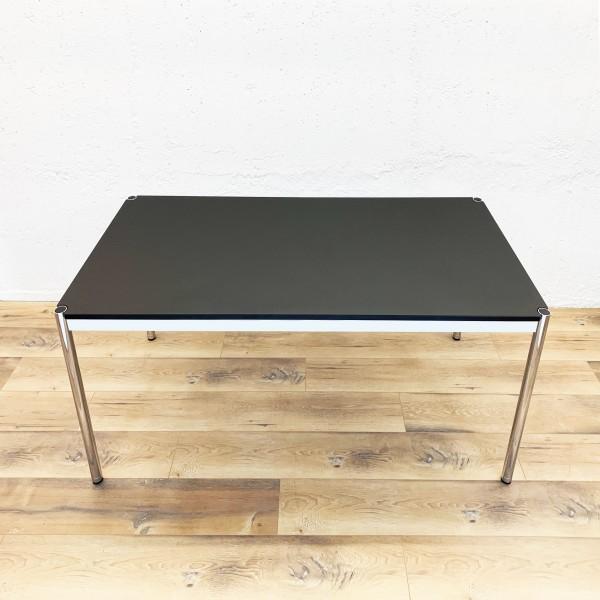 USM Haller Tische, Rechteckig, 150x75cm, Linoleum, Nero